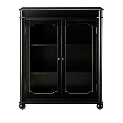 black bookcase with doors home decorators collection essex 39 in h black 3 shelf