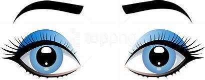 Eyes Transparent Clipart Cartoon Eyebrows Female Eye
