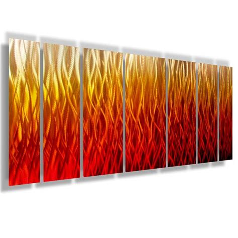 inferno  large modern abstract metal wall art
