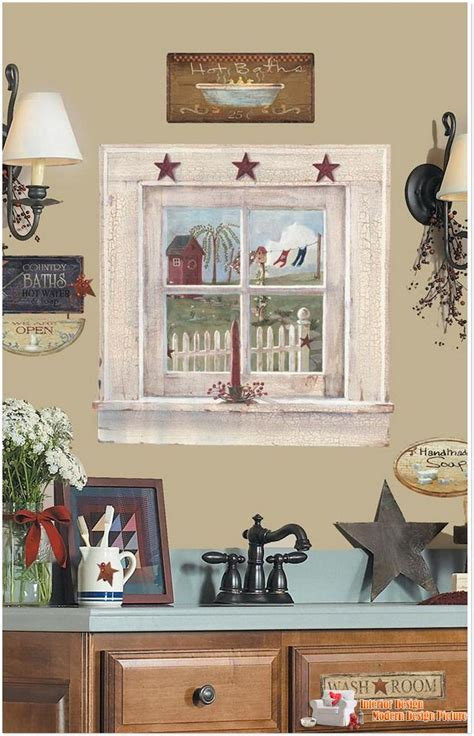 Wallpaper In Country Kitchen Wall Decor  Country Home Decor