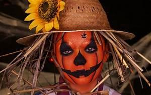 Maquillage Halloween Enfant Facile : maquillage citrouille ~ Nature-et-papiers.com Idées de Décoration