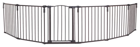 north states 3 in 1 arched decor metal superyard extra wide gate transitional baby gates