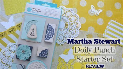 martha stewart doily punch starter kit review paper crafts misc ideas starter martha stewart doily punch starter review youtube