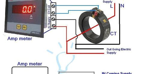 digital ammeter wiring with current transformer ct coil electrical tutorials in 2019