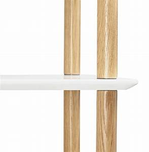 Etagere Blanche Et Bois : etag re design rack blanche en bois style scandinave ~ Teatrodelosmanantiales.com Idées de Décoration