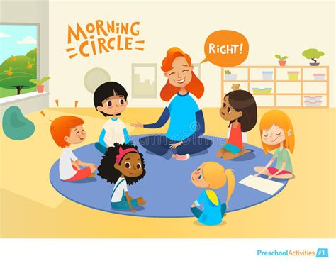 circle time for preschoolers asks children questions and encourage them during 735