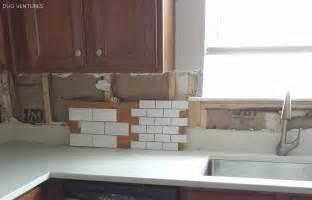 Ceramic Subway Tiles For Kitchen Backsplash Duo Ventures Kitchen Makeover Subway Tile Backsplash Installation