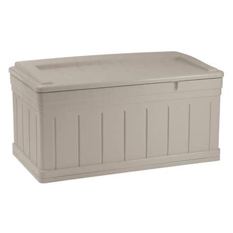 Suncast 99 Gallon Deck Box With Seat by Suncast 174 129 Gallon Deck Box With Seat At Menards 174