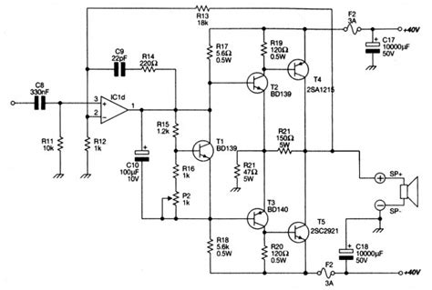 Power Amplifier Ocl With Eleccircuit