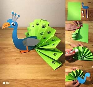 This, Folded, Paper, Peacock, Is, So, Adorable