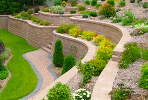 Landscape Design For Small Backyard by Retaining Wall Block Ideas For Diy Landscape Design