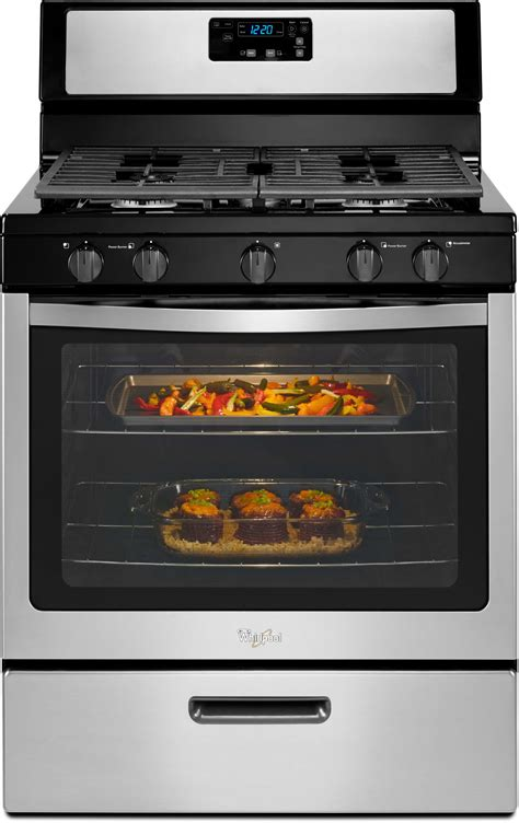 what is a kitchen range whirlpool wfg505m0bs 30 inch freestanding gas range with