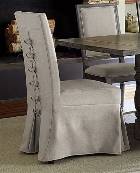 muses dove grey upholstered parsons chair set of 2 from