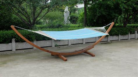 wooden hammock stand wooden arc hammock stand quilted hammock