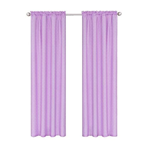 eclipse polka dots blackout purple polyester curtain panel