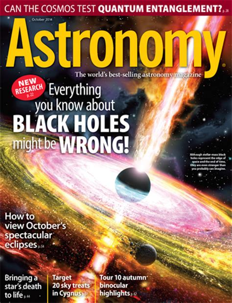 October 2014 Everything You Know About Black Holes Might