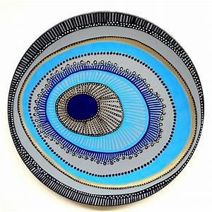 Decorative Plate - Evil Eye Wall Decor - Original hand ...