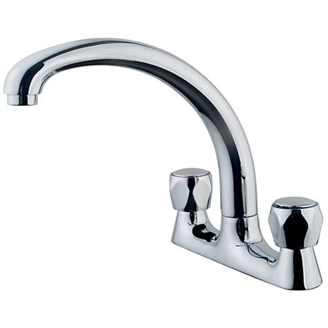 Wickes Trade Deck Mixer Kitchen Sink Tap Chrome  Wickescouk