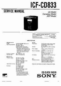 Sony Icf-cd833 Service Manual