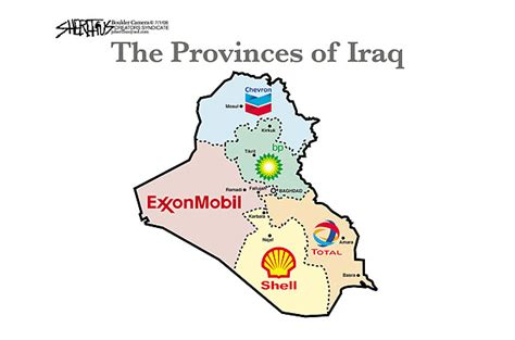 """Cartoons   """"Patriot"""", """"Just Us Department"""", """"Provinces of Iraq"""", """"The pilot is extra"""", disaster"""