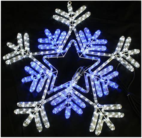 65cm blue white led snowflake rope light lights