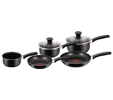 buy tefal  delight  piece  stick pan set black  delivery currys