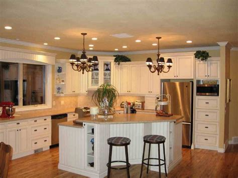decorative kitchen islands lovely traditional kitchen with wooden flooring island