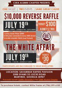 Calendar Raffle Fundraiser Template 10 000 Reverse Raffle And The White Affair Events