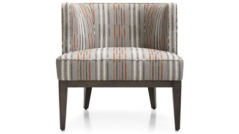 grayson upholstered barrel chair crate and barrel