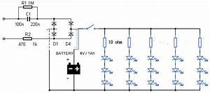 Led Emergency Light Circuit Diagram Without Transformer