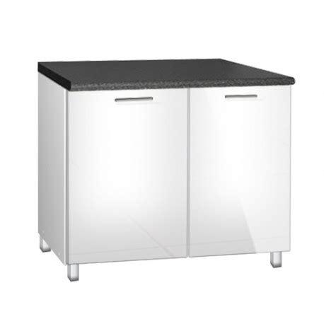 meuble cuisine sous evier 120 cm meuble de cuisine bas sous evier de 120 cm tara avec pieds