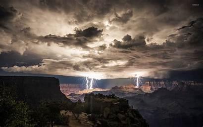 Canyon Lightning Grand Strikes Nature Wallpapers Strike