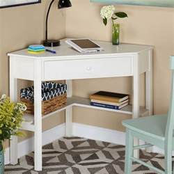 Small White Corner Desk by The Lovely Side 10 Desk Options For Small Spaces