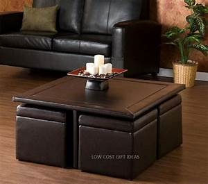 square coffee table with stools storage ottoman seating With square coffee table with stools