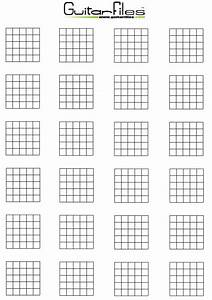 Blank Guitar Chord Diagrams