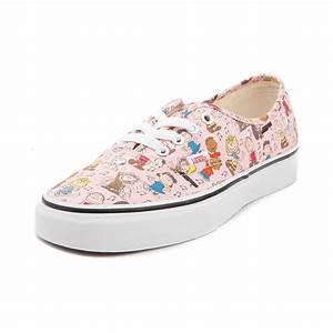 Vans Authentic Peanuts Dance Party Skate Shoe - Pink - 497156