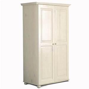 Armoire Hauteur 180 : armoire 2 portes hauteur 180 cm annecy blanc ~ Edinachiropracticcenter.com Idées de Décoration