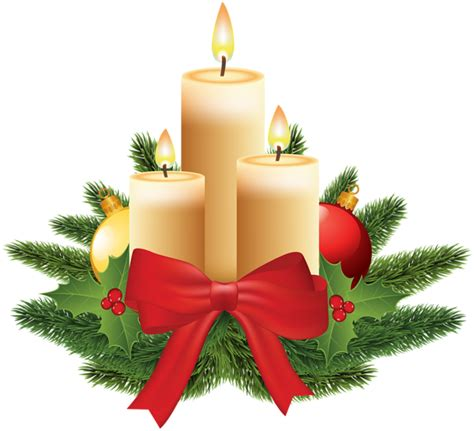 christmas candles transparent png image gallery