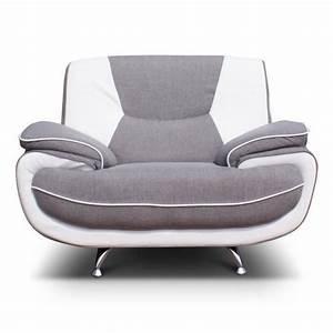 C Discount Fauteuil : spacio fauteuil bimatiere gris et blanc achat vente fauteuil tissu soldes d t cdiscount ~ Teatrodelosmanantiales.com Idées de Décoration