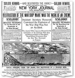 sinking of the uss maine yellow journalism