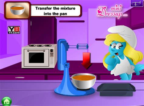 jeu de fille cuisine jeu schtroumpfette cuisine
