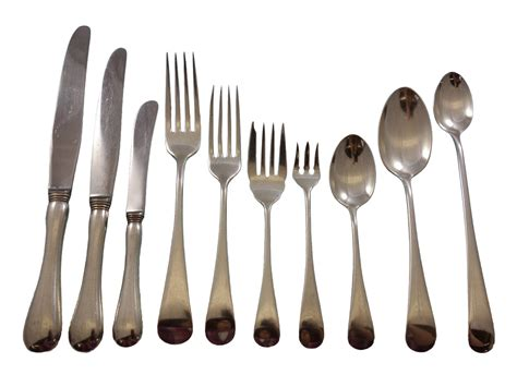 birks flatware sterling silver english canada pcs dinner service