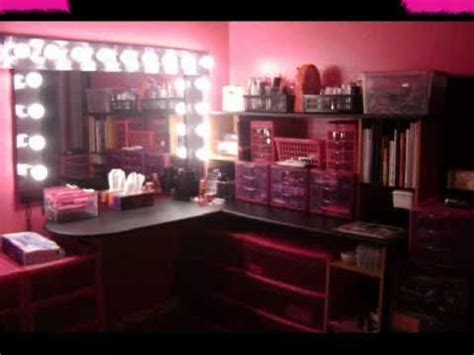 Makeup Desk With Light Bulbs by My Diy Vanity Quot Vanity Hollywood Quot Inspired Youtube