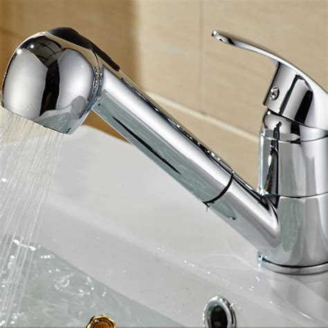 commercial kitchen sink faucet commercial stainless steel single handle pull out sprayer