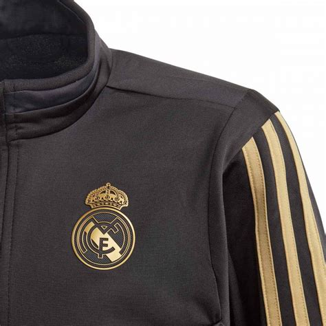 Chándal adidas Real Madrid PES 2019-2020 Niño Black-Dark ...