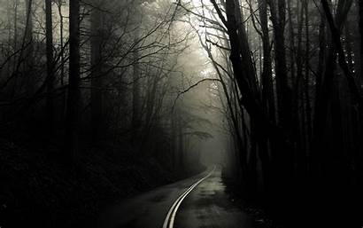 Spooky Forest Wallpapers Bild Mysterious Way Wallpaperplay