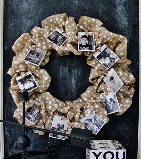 photography craft ideas burlap photo wreath thistlewood farm 2673
