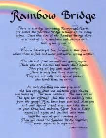 Rainbow Bridge Poem Printable