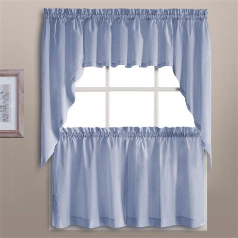 Blue Kitchen Valance by Dorothy Kitchen Valance Swags And Tier Curtains United