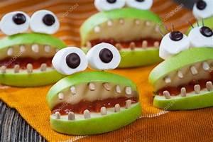 Homemade Halloween Scary Food Monsters Natural Vegetarian